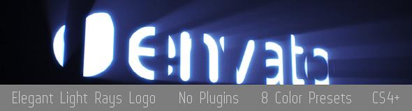 Elegant Light Rays Logo Reveal