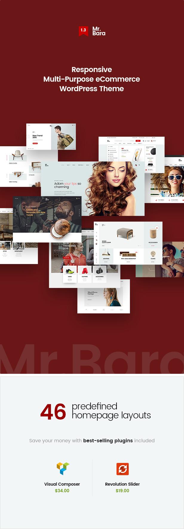 Mr.Bara - Responsive Multi-Purpose eCommerce WordPress Theme - 6