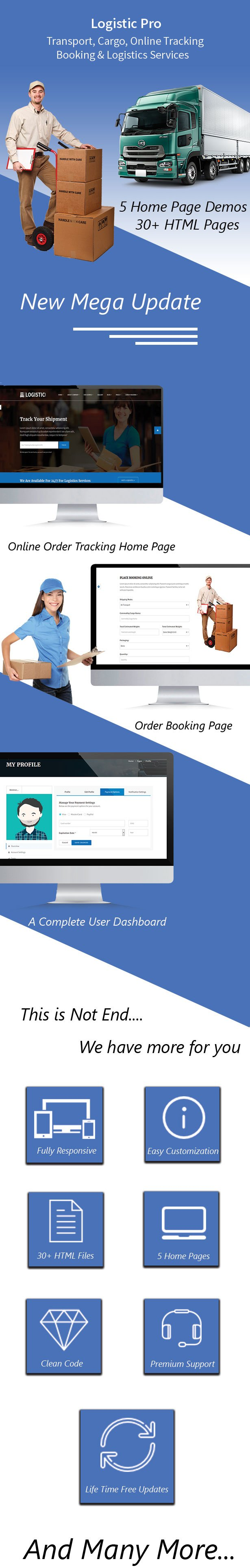 Logistic Pro - Transport - Cargo - Online Tracking - Booking