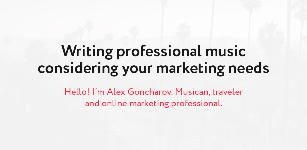 Professional royalty free music considering your marketing needs