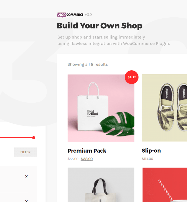 Belinni Woocommerce Shop Ready