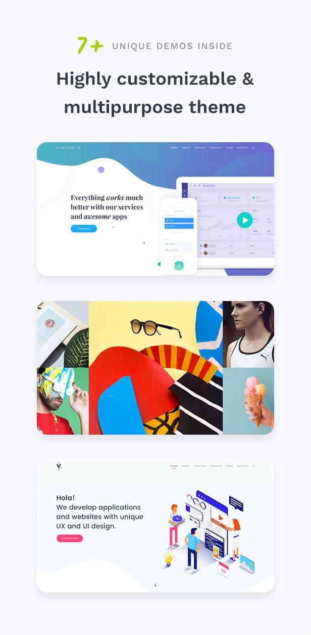 Vincent Eight | Responsive Multipurpose WordPress Theme - 4