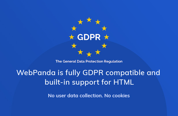 WebPanda GDPR compatible Package