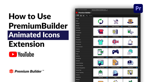 PremiumBuilder Animated Icons | Premiere Pro Extension - 8