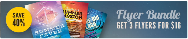 Summer Party Flyer Bundle