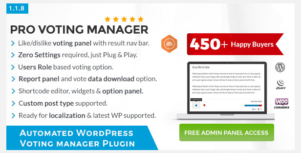 BWL Pro Voting Manager WordPress Plugin