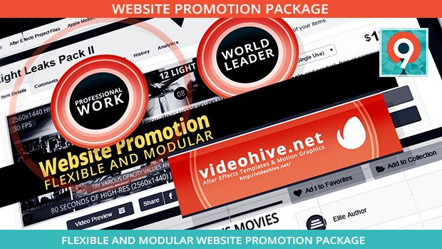 modulat after effects website promotion template