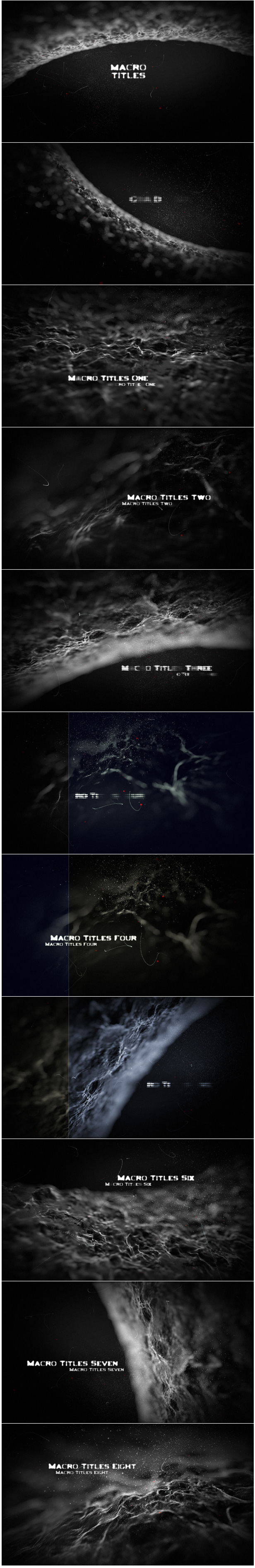 Titles Macro After Effects Template for sci-fi movies, medical trailers, medicine titles