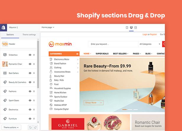 MAXMIN - Dropshipping AliExpress Clone Shopify Theme