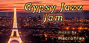Gypsy jazz Jam ~ Music by MacroTrax