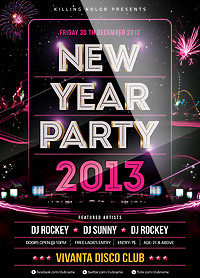 New Year Party Flyer - 62