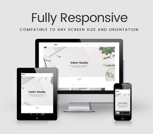Valon - Minimal Portfolio WordPress Theme - 1