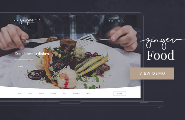Ginger — Food WordPress Theme