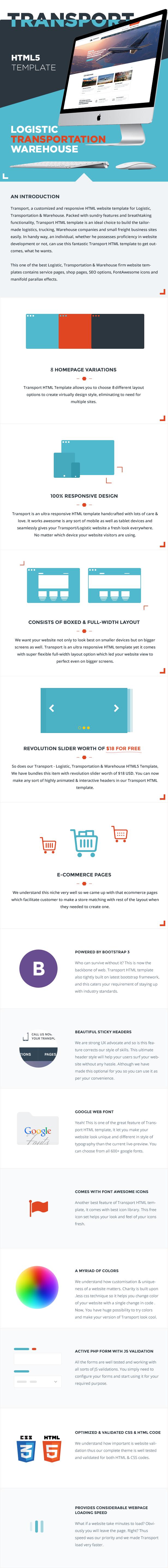 Transport - Logistic, Transportation & Warehouse HTML5 Template - 1