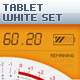 Tablet/Phone User Interface White SET - GraphicRiver Item for Sale