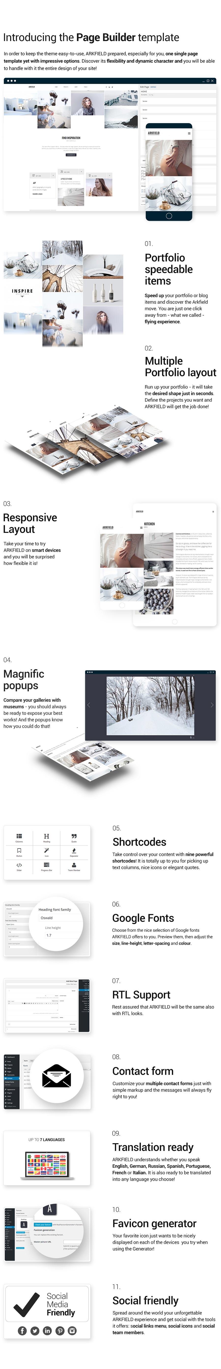 Arkfield - An Elegant Portfolio WordPress Theme - 3