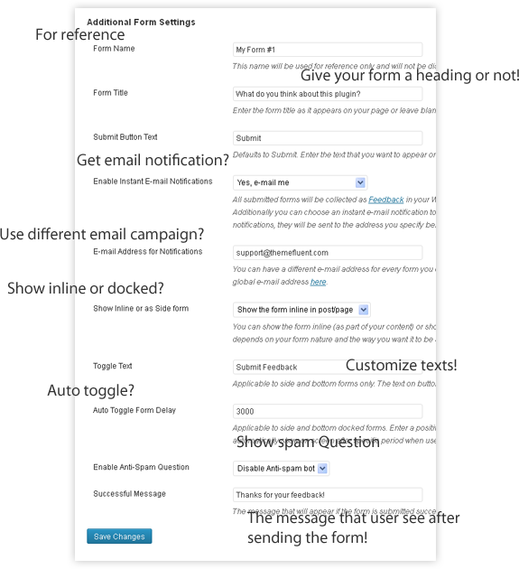how to create feedback form in wordpress