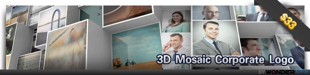 3D Mosaic Corporate Logo
