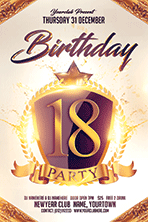Birthday Party Flyer Template 1 - 6