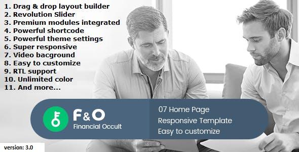 F&O - Finance Occult Multipurpose Drupal 8.6 - Drupal CMS Themes