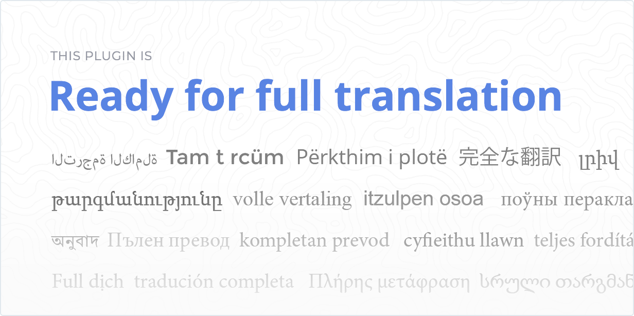 Ready for full translation