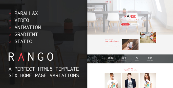 Rango Web Agency - Multipurpose HTML5 Template - Creative Site Templates