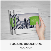 Square Book Mock-up / Dust Jacket Complete Edition - 13