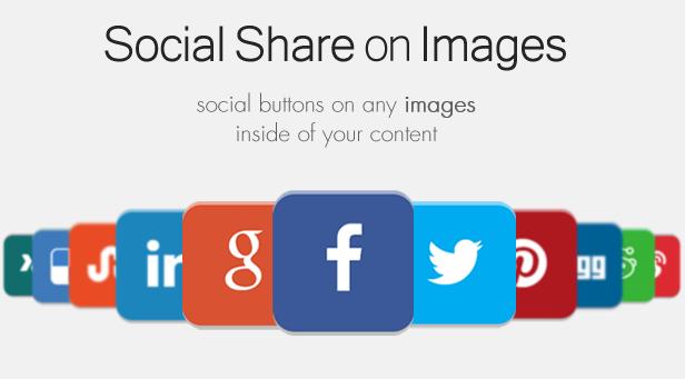 Social Share on Images AddOn - WordPress - 4