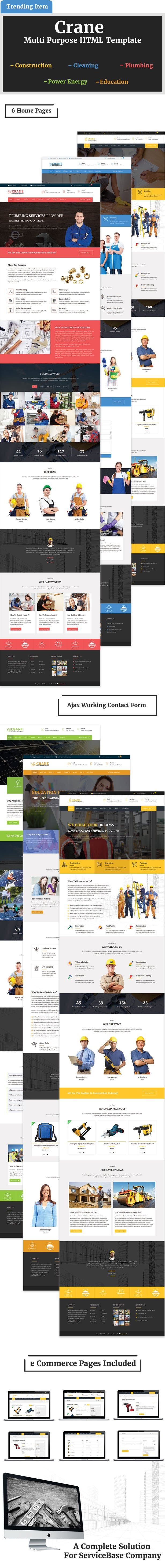 Crane Multipurpose Template