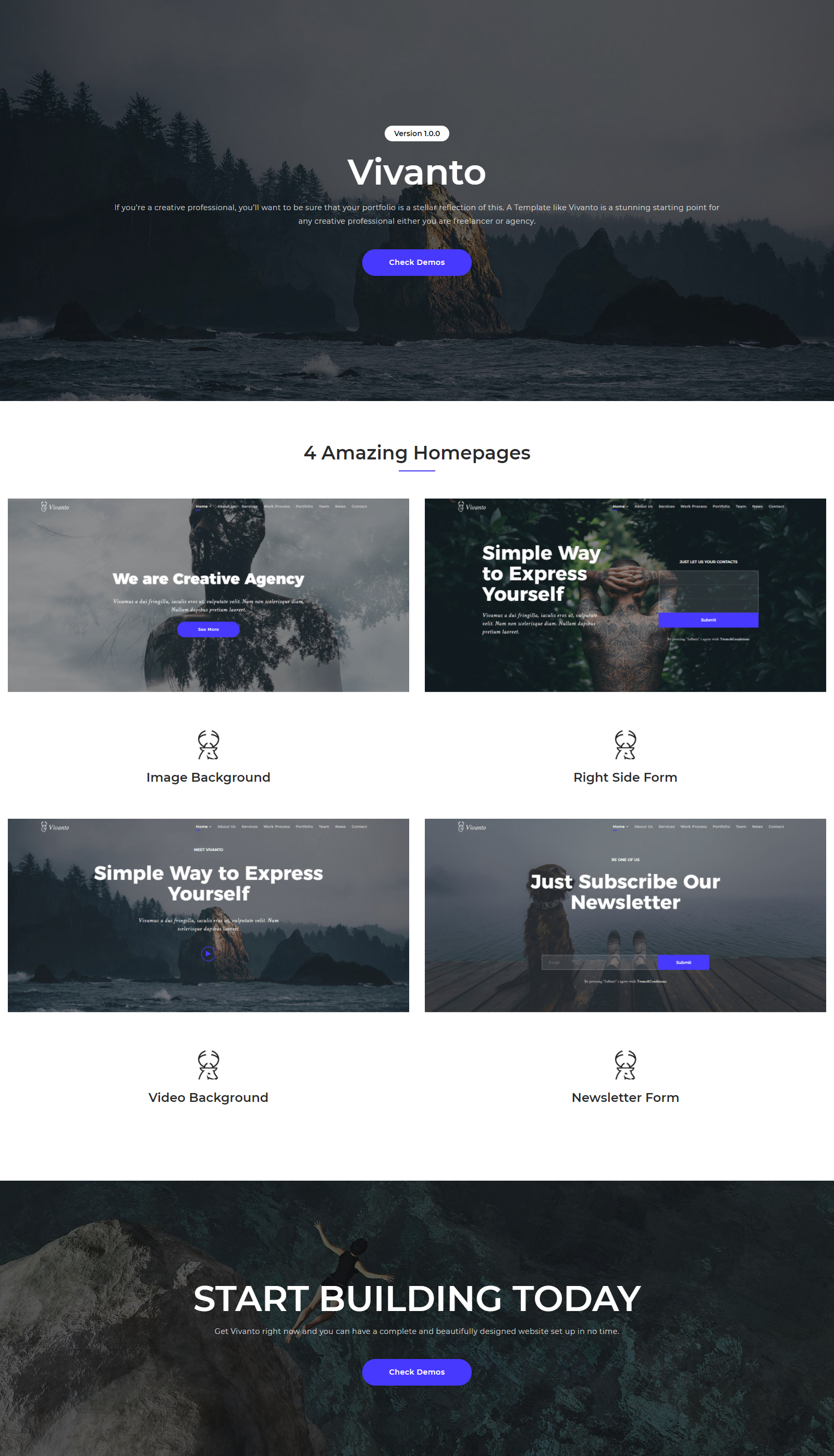 Vivanto – Multipurpose Creative Website HTML5 & CSS3 Template by ...