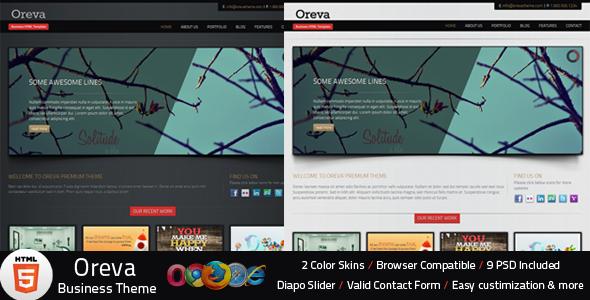Oreva Business HTML5 Template - Business Corporate