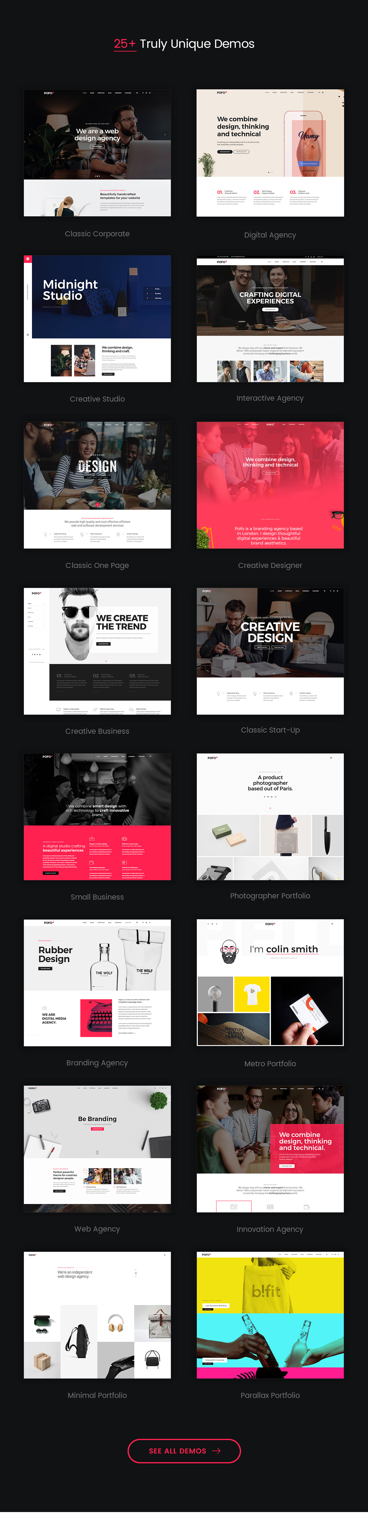 Pofo Creative Portfolio And Blog Wordpress Theme By Themezaa