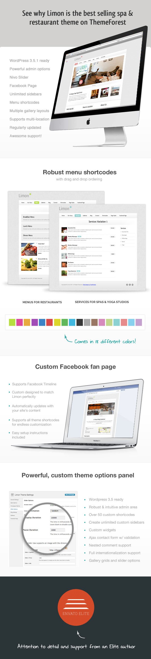 Limon - A Restaurant and Spa Wordpress Theme - 1