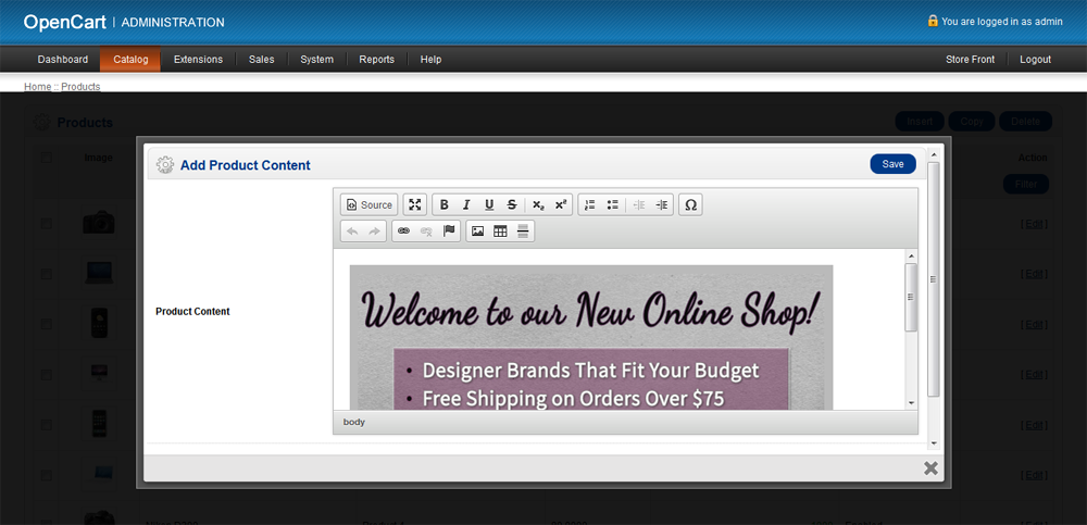 Custom Content Popup at Product Page for OpenCart - 14