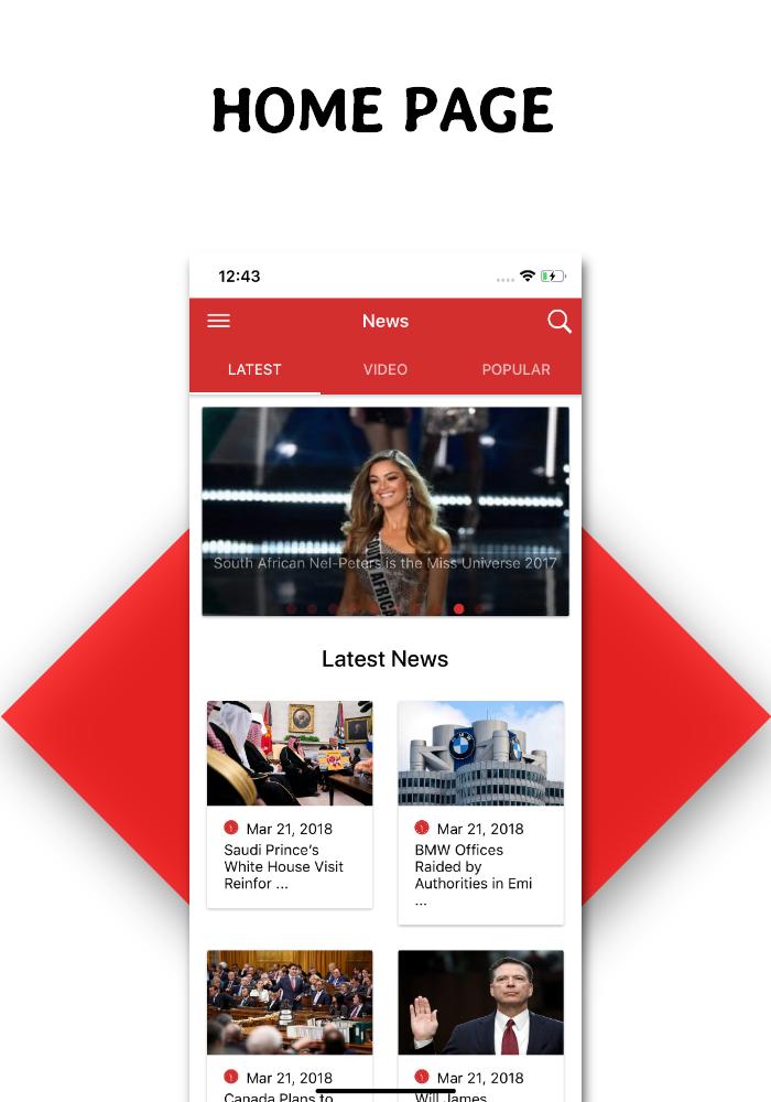 Full functional news app with admin panel Firebase Firestore & Ionic Framework - 3