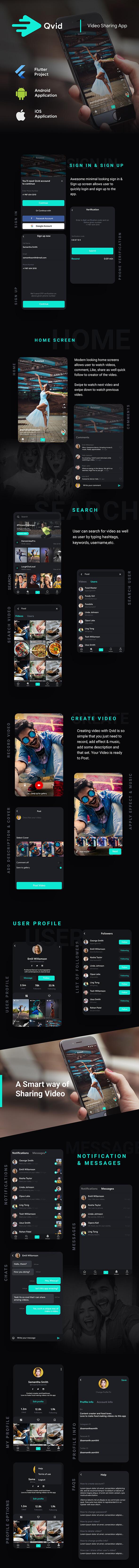 TikTok App| Video Creating Android App+ Short Video iOS App| Flutter Template| Qvid - 2