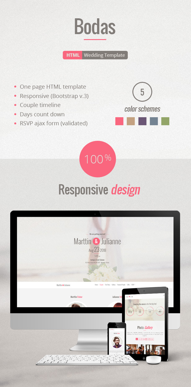 Bodas HTML Wedding Template By Marttinfisher ThemeForest - Timeline html template