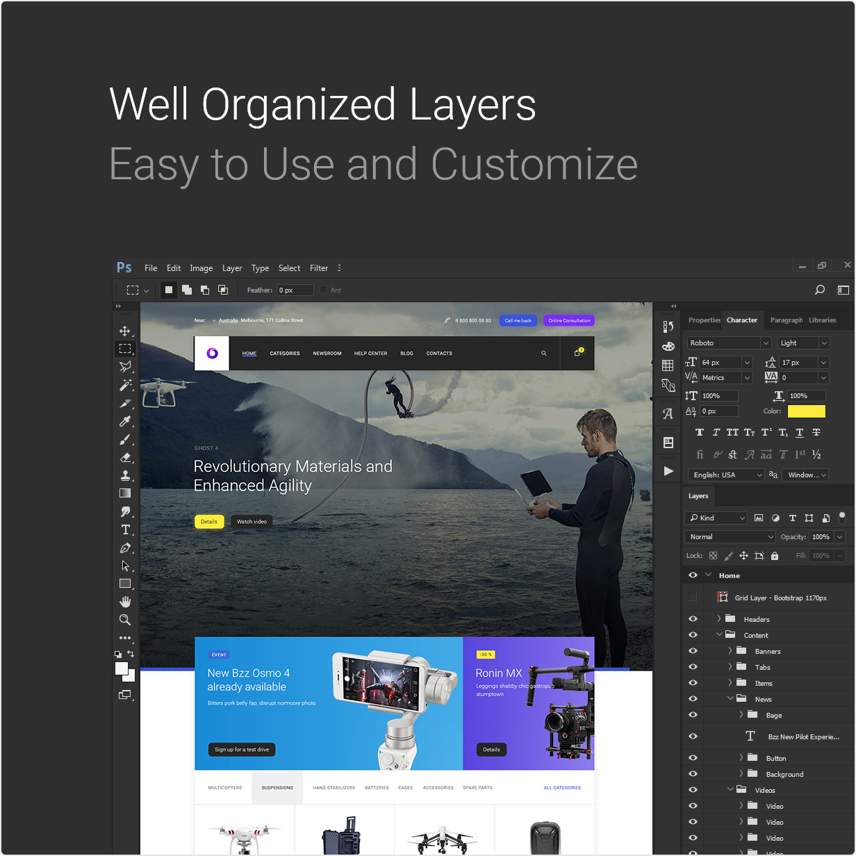 Bzzz - Gadgets eCommerce PSD Template - 11