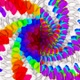 Hypno Spiral Squeezed Colorful Hexas