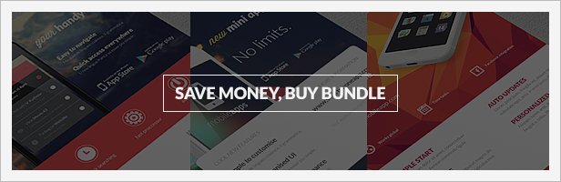 Bundle 3x Mobile App Promotion Flyers / Phone App