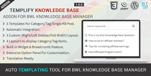 BWL Knowledge Base Manager - 15