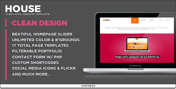 house html template