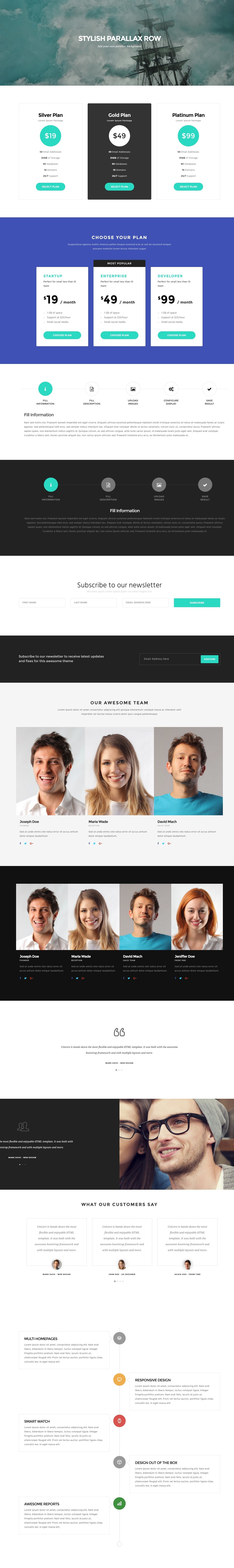 Unicore - Mobirise Builder with 20 HTML Bootstrap Landing Page ...