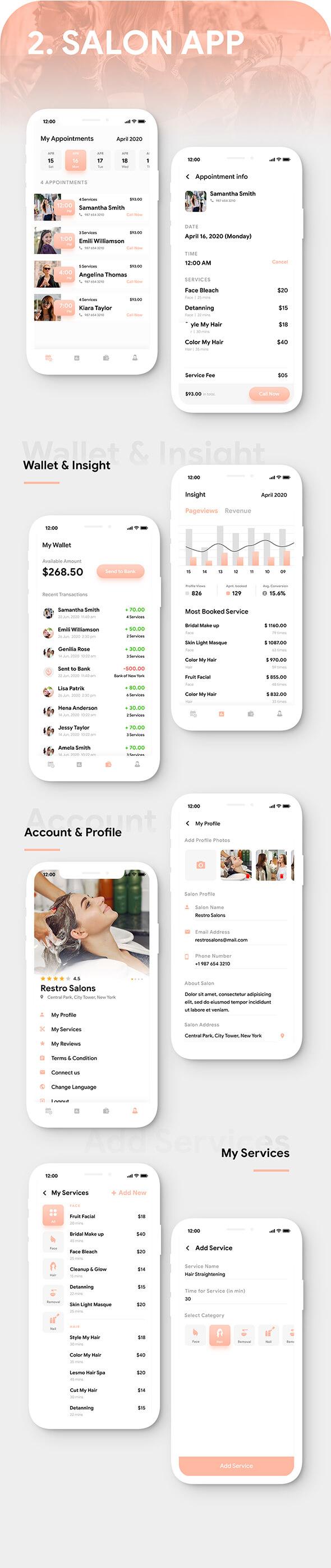 Multi Salon Android App Template+ Multi Salon iOS App Template|2 Apps User+Salon| IONIC 5| Salonza - 5