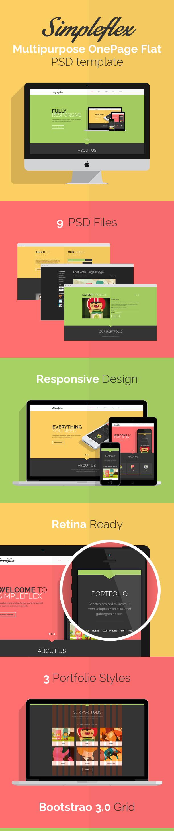 Simpleflex - PSD Web Template