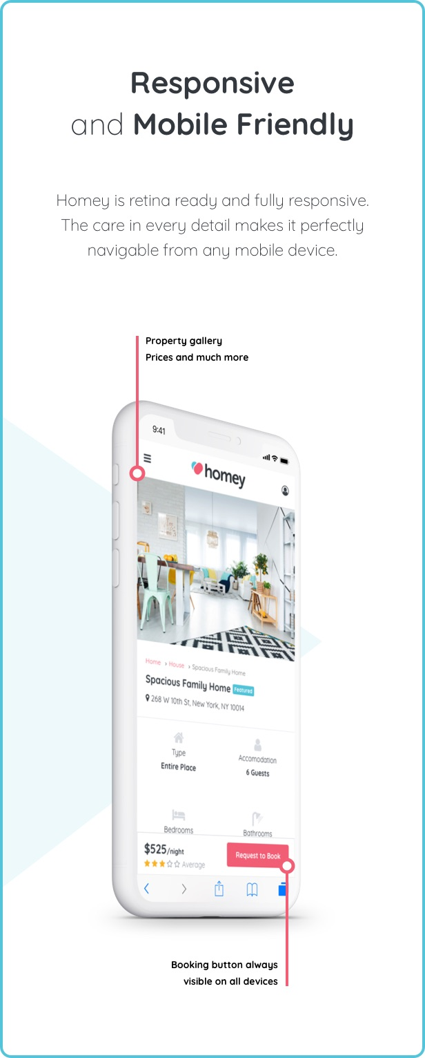 Homey - Booking and Rentals WordPress Theme - 12