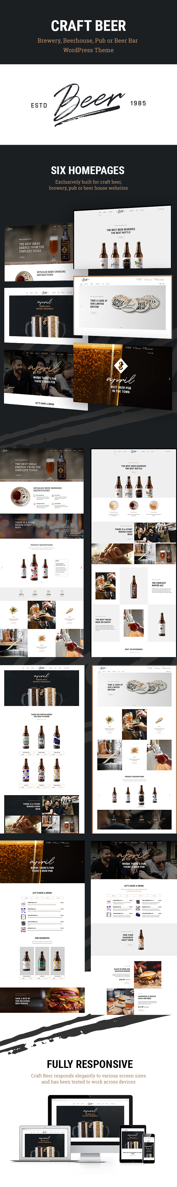 Craft Beer - Brewery & Pub WordPress Theme - 1