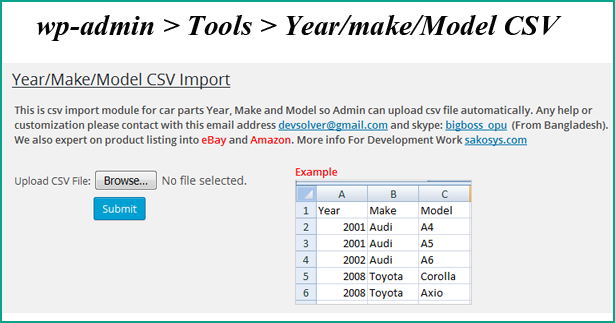 WooCommerce Vehicle Parts Finder - Year/Make/Model by bigboss555 | CodeCanyon