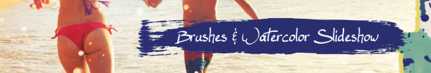 Brushes & Watercolor Slideshow