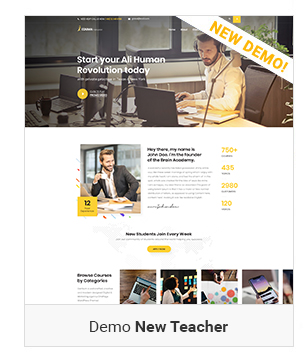 Instructor - education WordPress Theme
